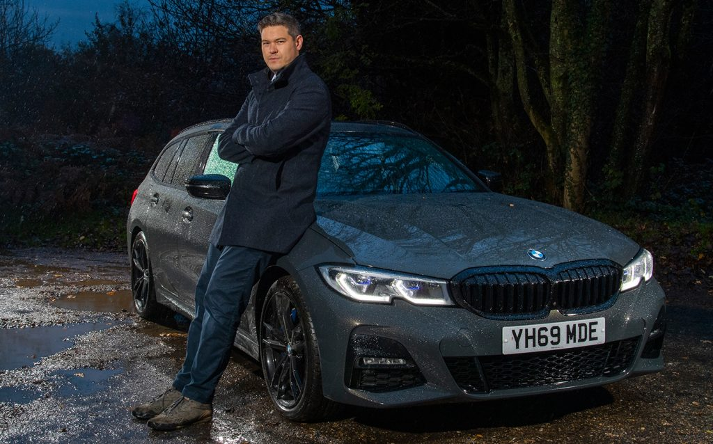 Extended Test: 2019 BMW 3 Series Touring 330d xDrive (G21) review by Will Dron for Sunday Times Driving.co.uk - Will Dron poses with the car