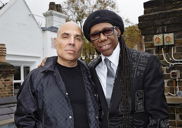 Hipgnosis was founded by Merck Mercuriadis, left, and funk guitarist Nile Rodgers, right. The two veterans drew up the plan for the Guernsey-registered investment company
