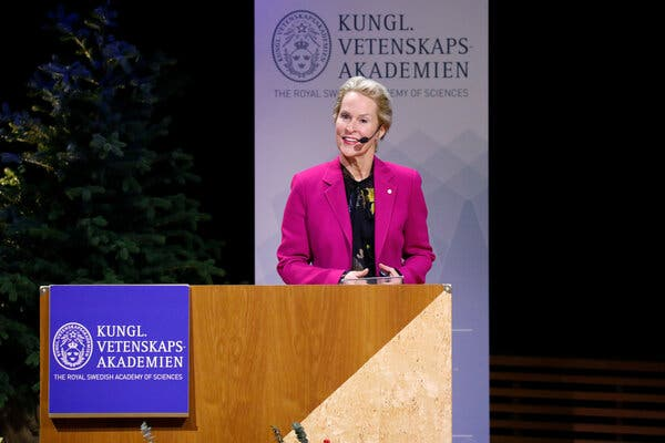 Frances H. Arnold, in Stockholm in 2018, is one of President-elect Joseph R. Biden Jr.'s appointments for the White House science team.
