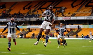 West Bromwich Albion's Semi Ajayi celebrates scoring his side's second goal.