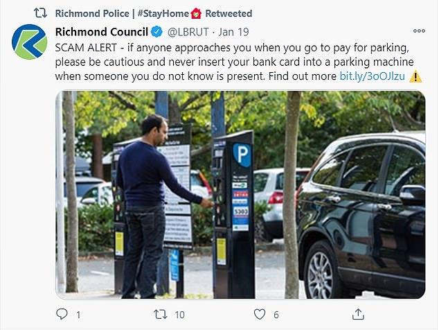 Both Richmond Council and Richmond Police have shared details of the scam to warn motorists paying for parking in the area