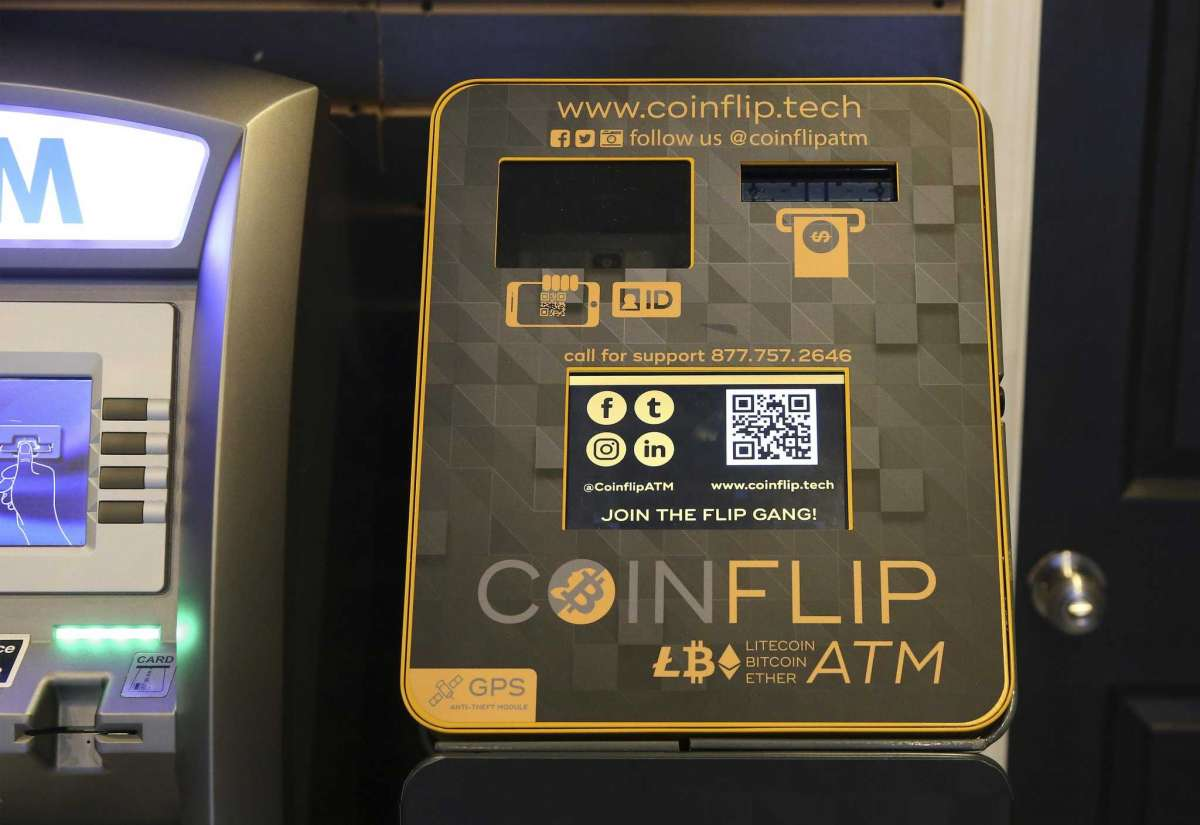 Crypto currency ATMs are popping up throughout San Antonio. Smokerz Paradise offers such a machine for people to conduct crypto currency transactions. Shift leader Bridgette McFarlin demonstrates how to conduct a transaction on one of the ATMs located at Smokerz Paradise near IH10 and DeZavala on Thursday, Jan. 7, 2021.