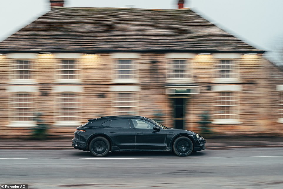 A behind-the-scenes Turismo: This undercover Porsche is the new electric Taycan Cross Turismo that's not due to be unveiled until next month. But we've already had a go in the zero-emissions off-road estate car