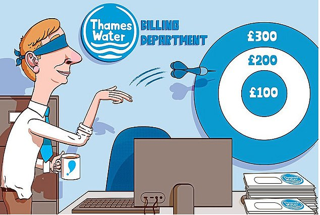Guessing game: Thames Water estimated a bill for one reader which was more than double their highest previous bill