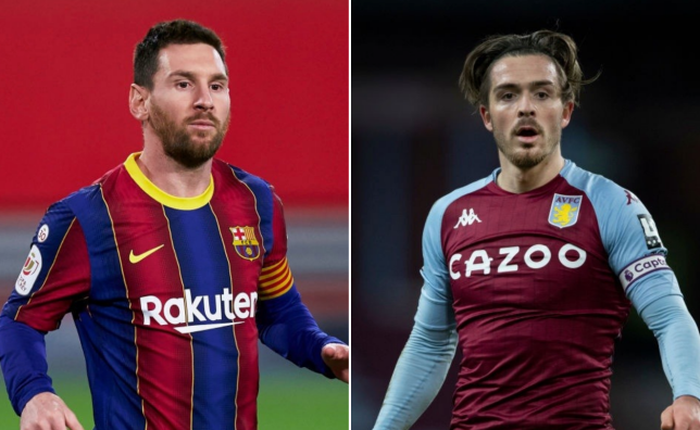 Aston Villa captain Jack Grealish has been compared to Barcelona talisman Lionel Messi.