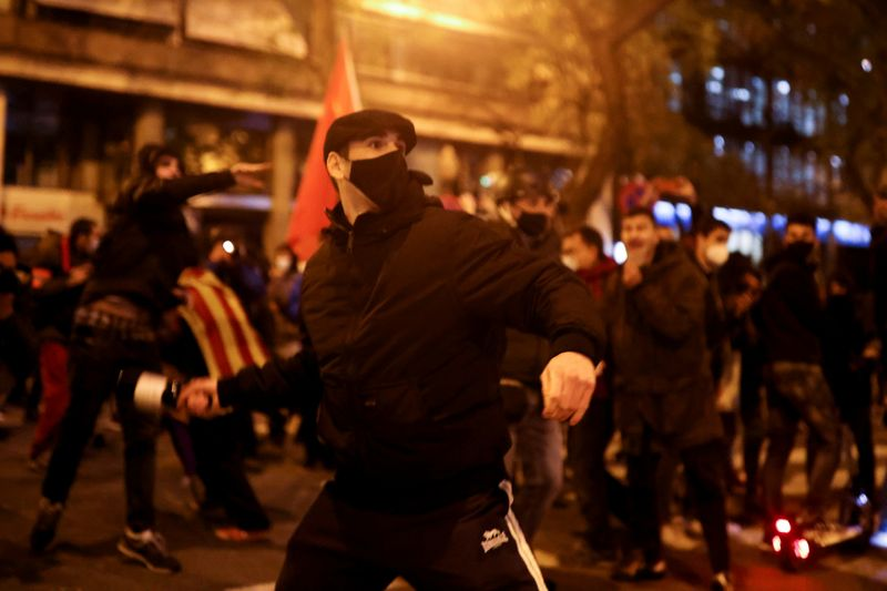 Catalonia beefs up security for new protests over jailed rapper