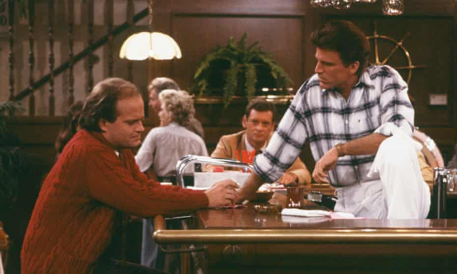 Heavy thinker … Grammer as Frazier and Ted Danson as Sam Malone in Cheers.