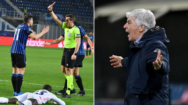 Furious Atalanta boss Gian Piero Gasperini slams referee over red card in Real Madrid loss