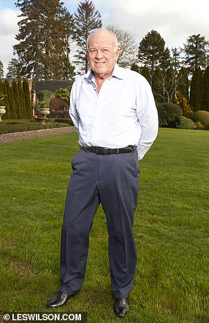 Rich: Peter Hargreaves was worth £2.4billion according to the 2020 Sunday Times Rich List