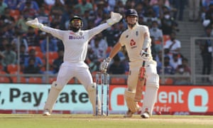 India's wicketkeeper Rishabh Pant appeals for the wicket of Zak Crawley.