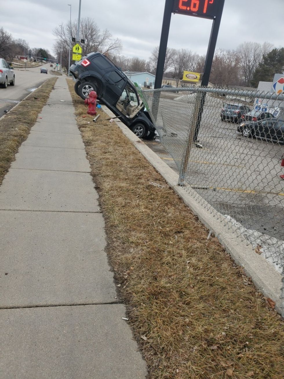Lincoln Police responded to a car crash near N. 1st Street and Cornhusker Highway on Sunday.