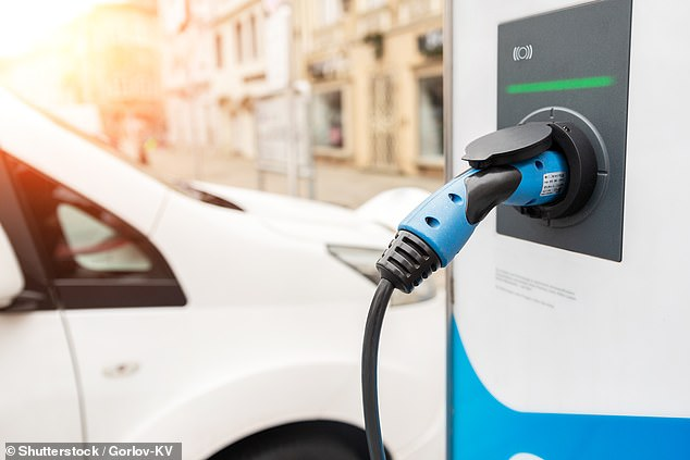 Charging ahead: Schneider Electric is to move its UK fleet of 1,200 vehicles to green models – including Teslas and BMWs – by 2025