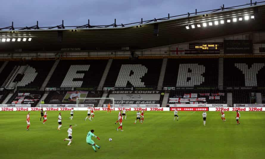 Derby no longer own their stadium but were cleared of wrongdoing over its sale.
