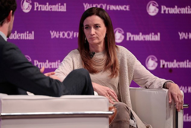 Digital Asset CEO Blythe Masters speaks onstage at Yahoo Finance All Markets Summit on October 25, 2017 in New York City