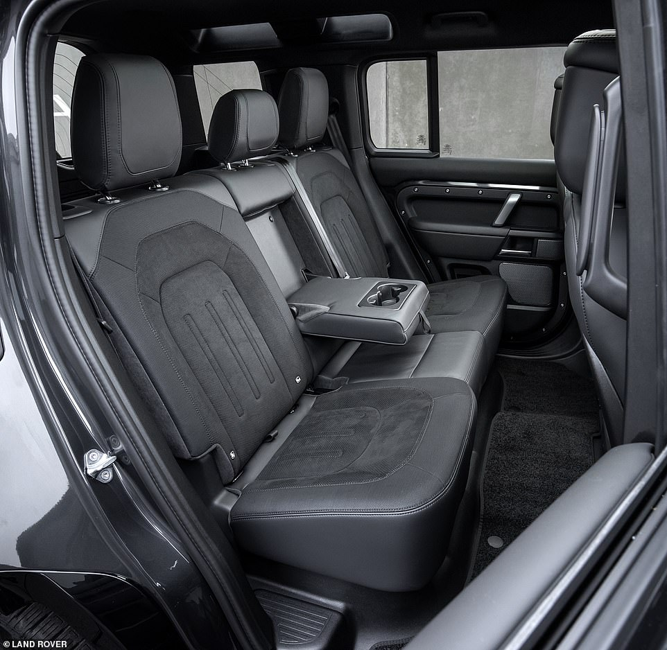 Rear passengers in the 110 model get far more leg-room than if the driver turned up with the three-door Defender 90 variant