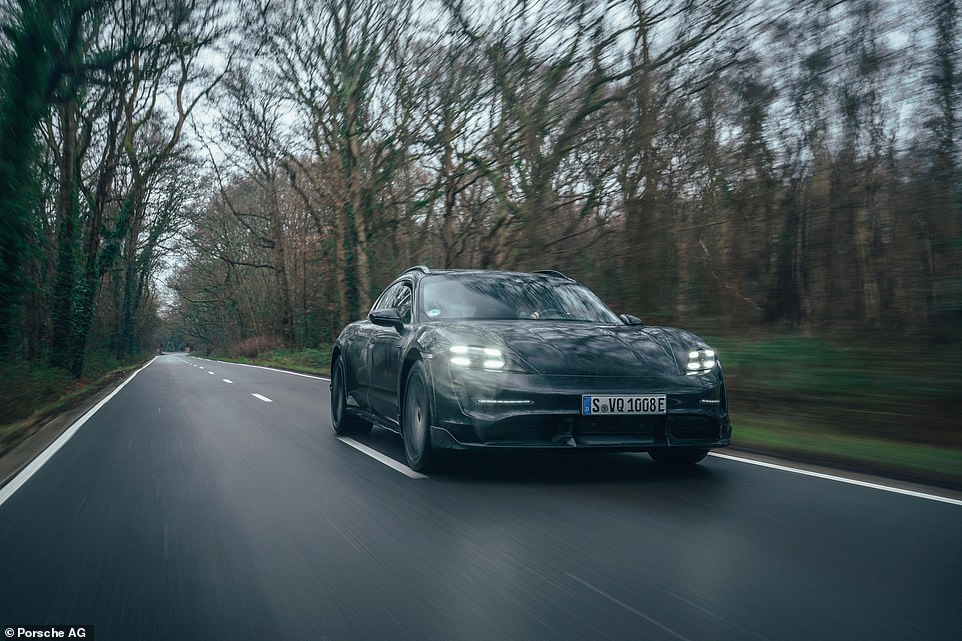 Powered by a mighty 761 horse-power electric motor the new Taycan Cross Turismo accelerates from rest to 62 mph in just three seconds, and hits the 100mph in 6.5 seconds, up to a top speed of 160 mph