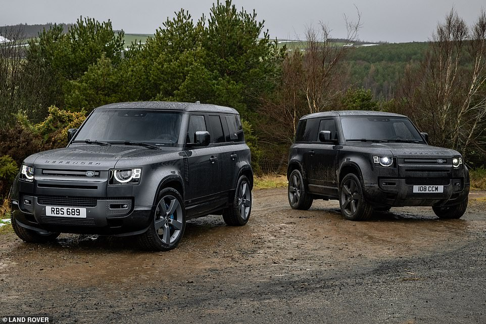 Priced just either side of £100,000, if you do want a snarling V8 Defender you're you're going to have to pay through the nose for one