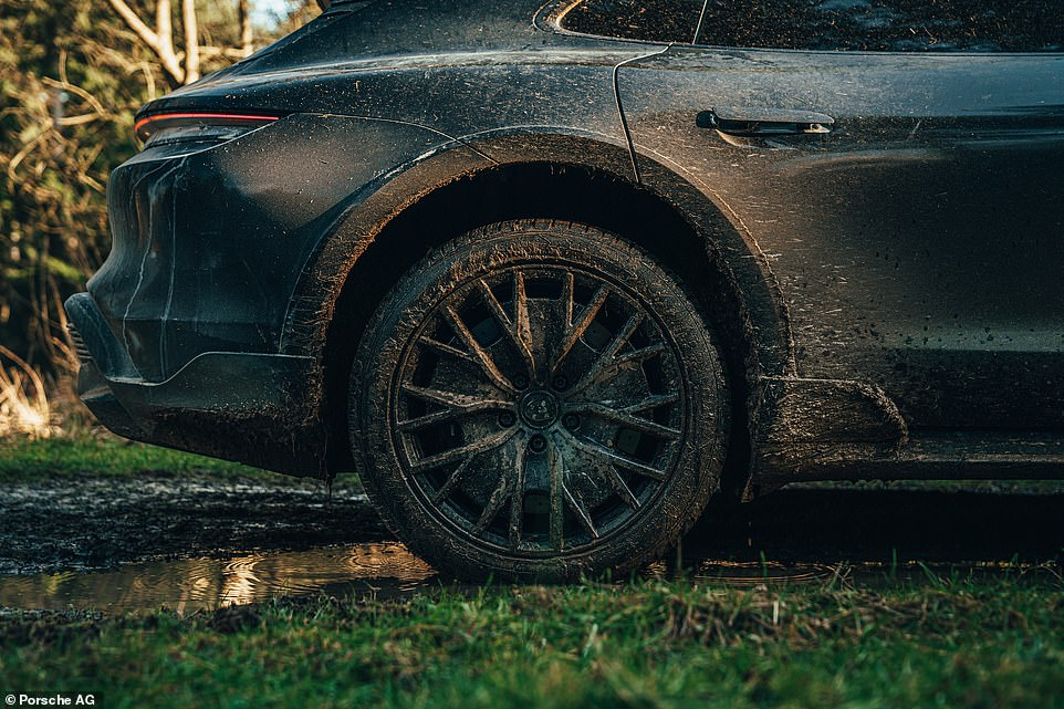 A Turbo S model would normally have 21-inch wheels as standard. But as the one I was driving was on winter tyres, this meant it was riding on 20-inch wheels