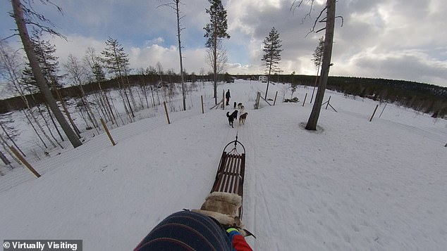 Sledding: One of the experiences already captured by Virtually Visiting, which is set to launch in April