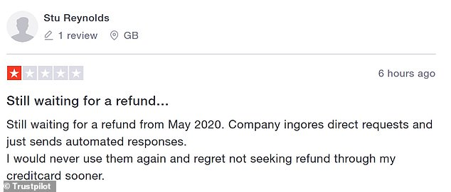 Another Go To Gate customer has said they are still waiting for a refund from May 2020