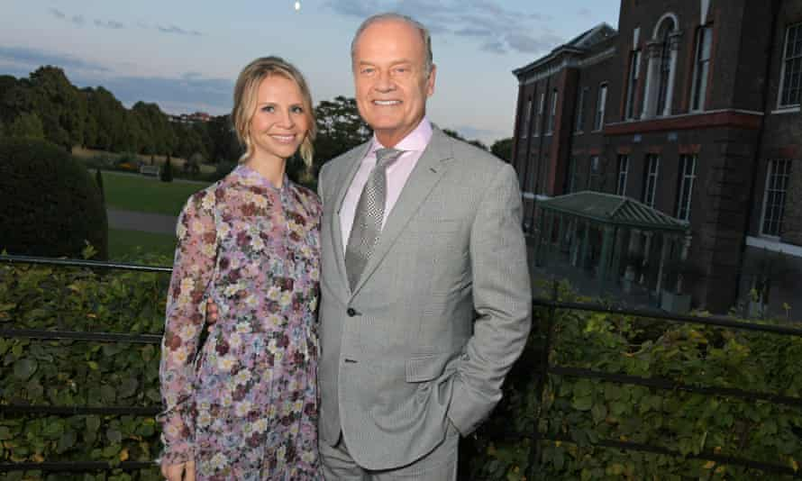 A Republican playing a Democrat … Grammer and his wife Kayte Walsh at Kensington Palace in 2019.