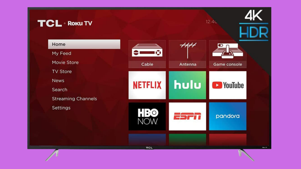Save nearly 45 percent on this TCL 75-inch Class 4K Series-4 Ultra HD LED Roku Smart TV. (Photo: Walmart)