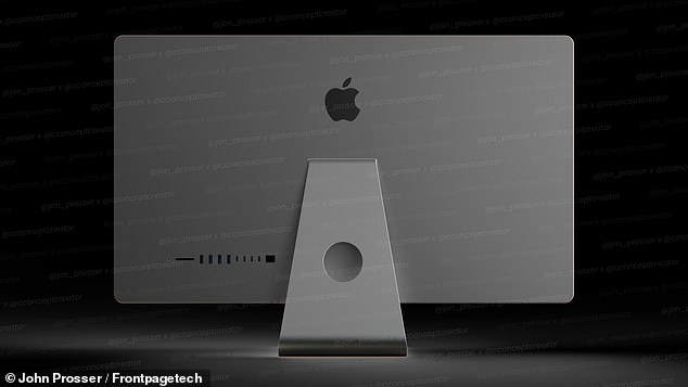 The ports appear to be the same as what Apple released in its 2020 iMac, but notes they could be placed in a different location on the real system