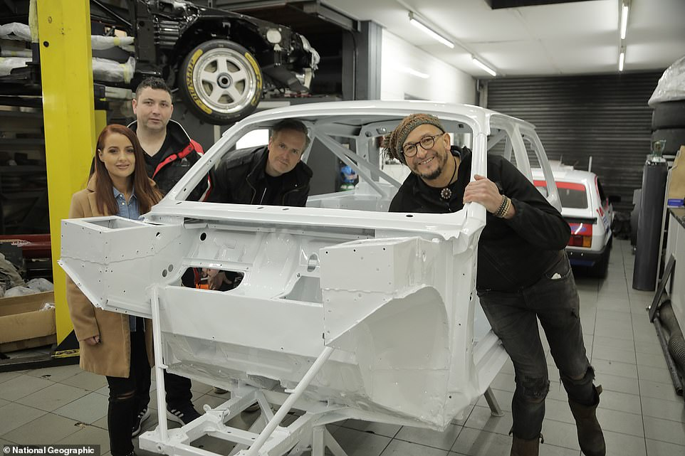 Tim and Fuzz welcomed Brian's daughterDawn and family friend Barry, to see the car half-way through the build process - a matter of days before lockdown first hit and the project went on hold