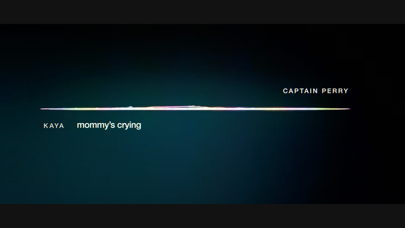 The trailer's only visuals are waveform graphics, speakers' names, and other minimal abstract visuals