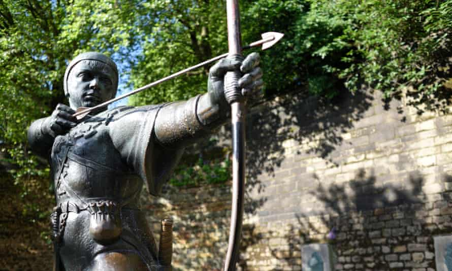 The Robin Hood Statue, Nottingham Castle.
