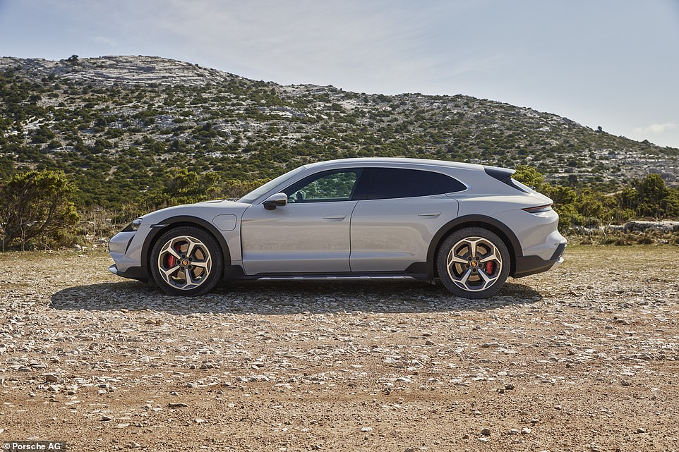 Cross Turismo is an extended version of Porsche's award-winning Taycan electric sport car with a slightly raised ride height