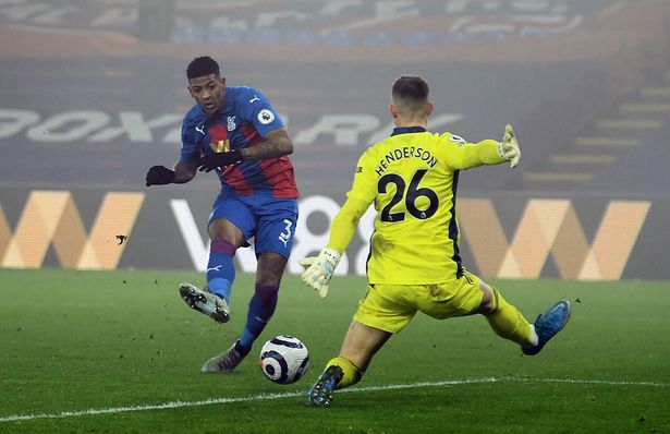 The goalkeeper pulled off an excellent save against Crystal Palace
