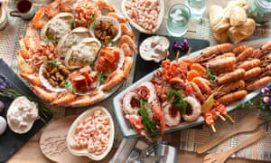 shellfish platters from Latimers Seafood