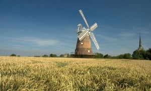 John Webb's Windmill Thaxted Essex, with the parish church in the background.