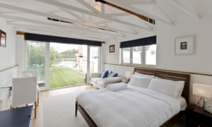 The self-contained Riverside Boathouse sleeps four