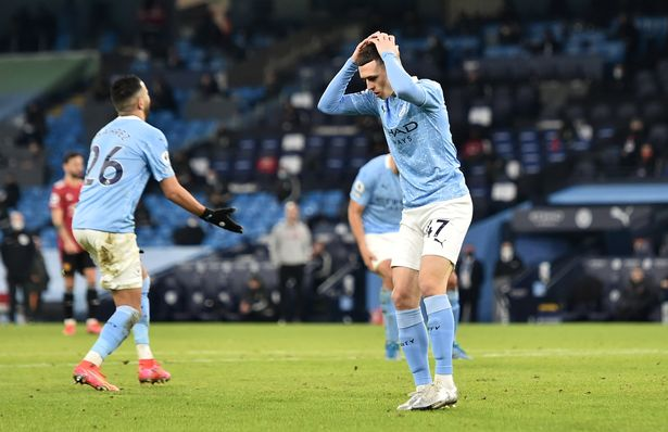 City's run of 21 wins came to an end at the hands of their local rivals