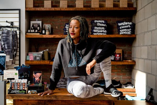 """""""We're not just competing with the gym down the street. Titans like Peloton and SoulCycle, they are true beneficiaries of this pandemic,"""" said Amina Daniels, owner of a cycling and yoga studio."""