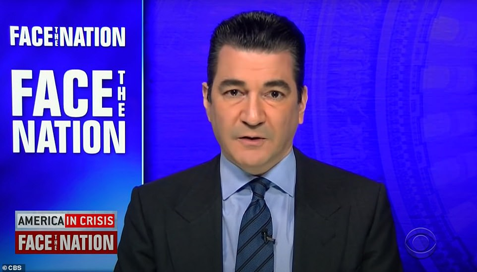 Former FDA Commissioner Dr Scott Gottlieb warned on Sunday (above) that coronavirus variants currently circulating may cause an uptick in new cases