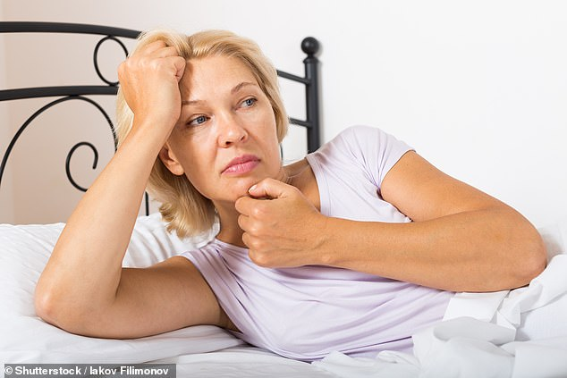 Intense bouts of sweating, day and night, or ¿hot flushes¿, occur due to a decline in oestrogen due to the menopause [File photo]