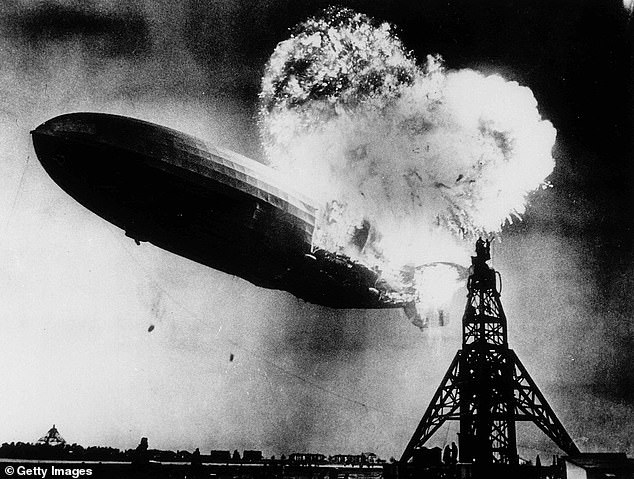 Brin's airship would be the world's largest present-day aircraft, but falls short of the infamous Hindenburg Zeppelin from the 1930s that measured 804 feet.u00A0But unlike the ill-fated Zeppelin that went up in flames in 1937, Brin's prototype uses non-flammable helium for its lifting gas
