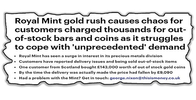 This is Money has reported on problems affecting customers of the Royal Mint's booming precious metals division which has seen people charged thousands for out-of-stock items