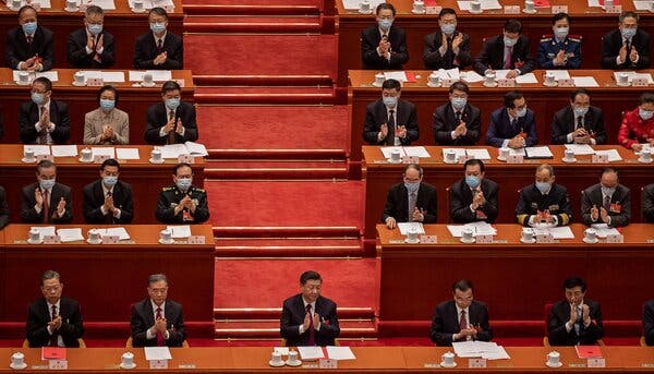 President Xi Jinping of China, center, has sought aggressively to expand his country's influence around the world.