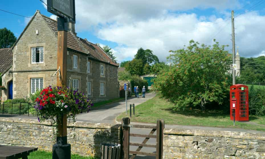 View of the village from the Compton Inn.