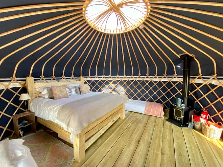 The yurts at Wild Meadow in Norfolk