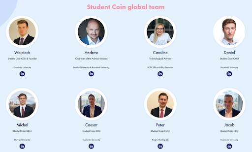 Student Coin Core Team Members
