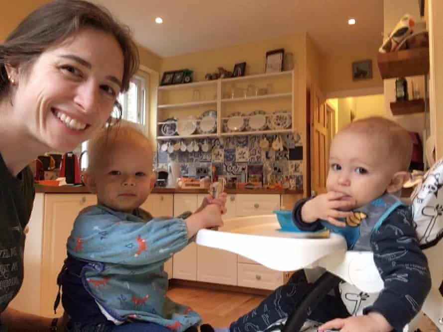 Frances Vulliamy with her nephew and her child
