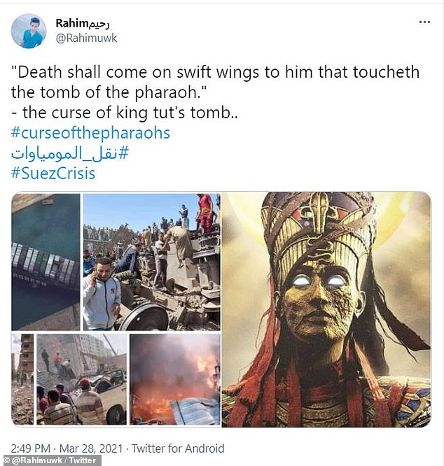 However, news of the parade last week follows a number of disasters including a giant ship blocking the Suez Canal, a fatal train accident and fires across the country that has led people to say it is the pharaoh's curse