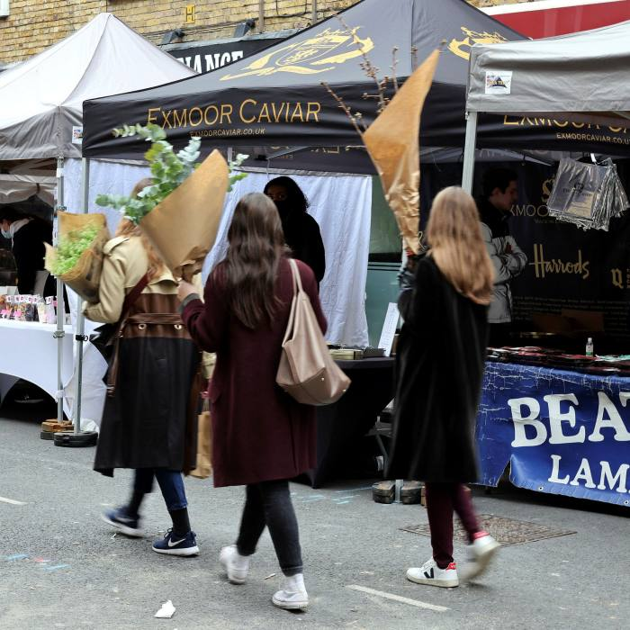 South Kensington Farmers' Market is at the heart of French London