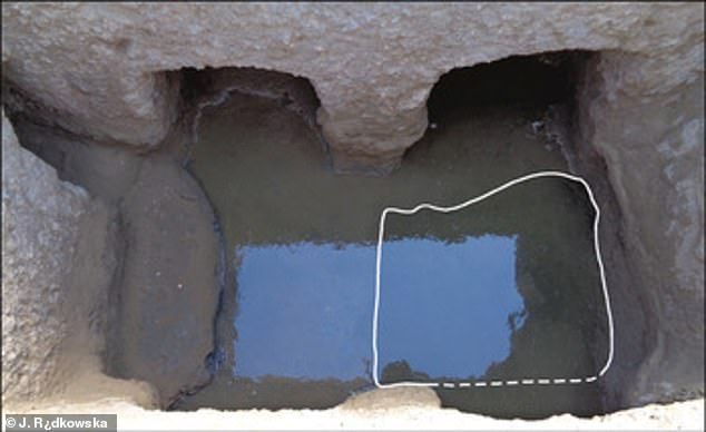 Archaeologists have excavated large pools that would have held thousands of gallons in what may have been Berenike's only source of drinking water. Pictured: Interior of the well in the gate complex