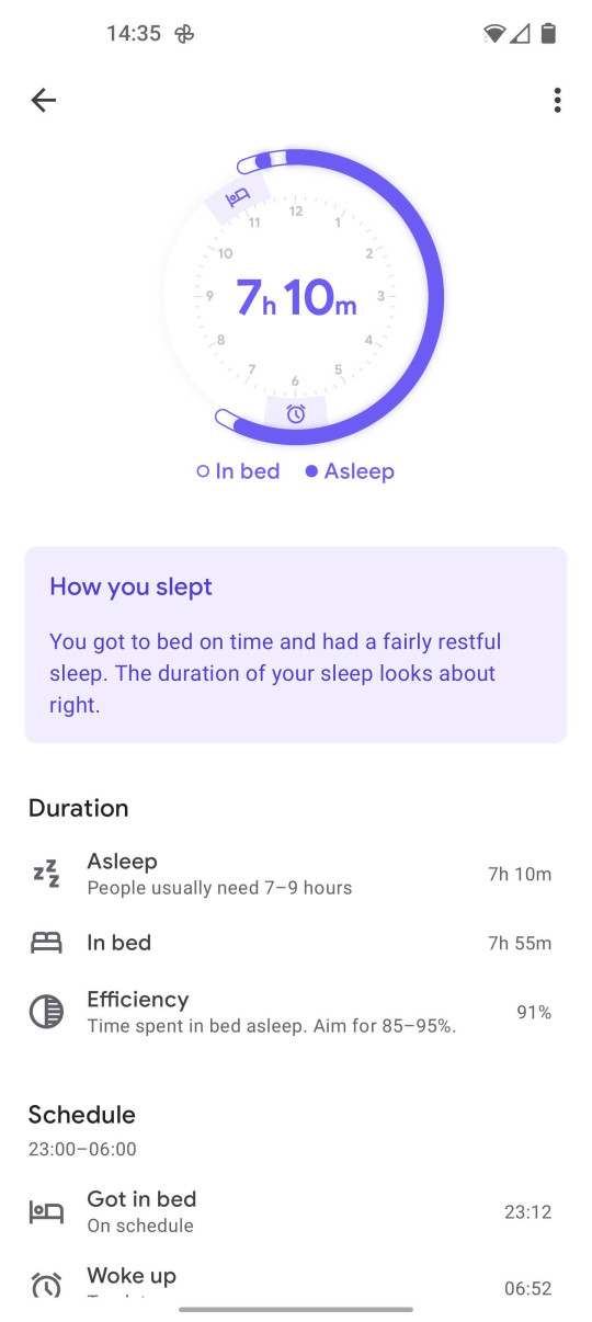 You get a fuller breakdown in the Google Fit app, which can connect to the Nest Hub through your account (Metro.co.uk)